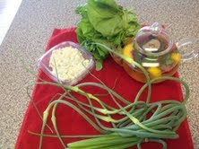Garlic Scapes and Farmer's Market Goodies
