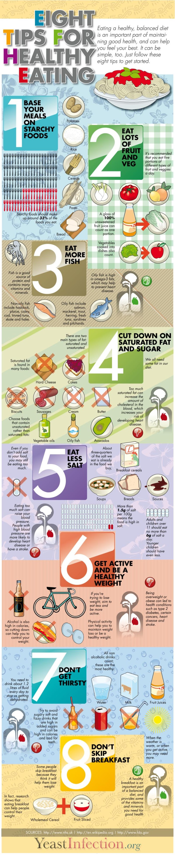 Infographic: 8 tips for healthy eating