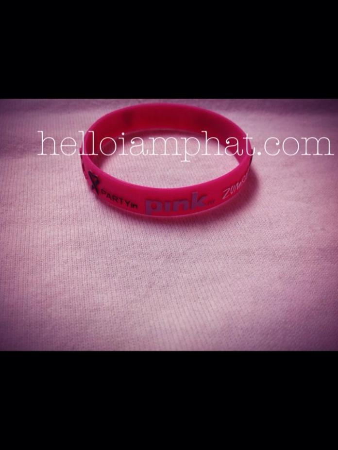 party in pink bracelet