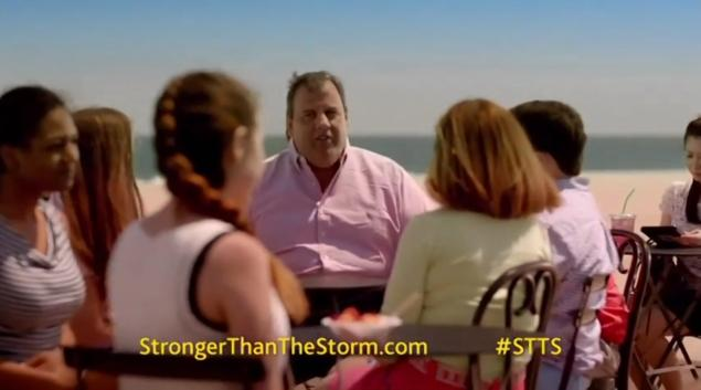 chris christie sandy commercial