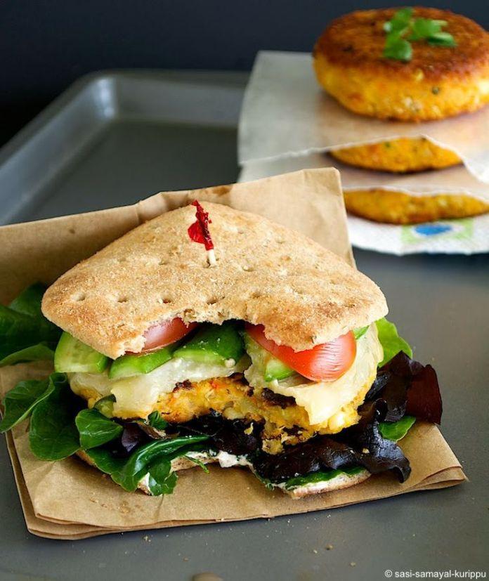 veggie burger quinoa