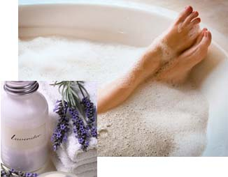 Aromatherapy bubble bath: DIY