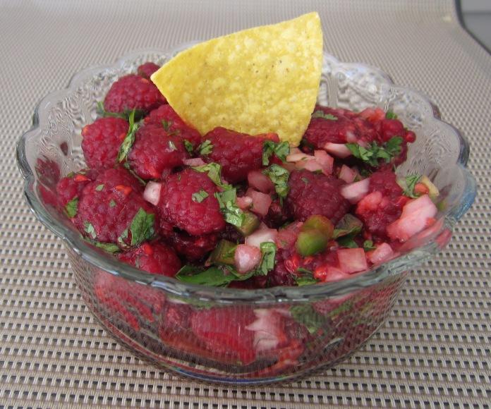 Fresh Raspberry & Tortilla Salsa