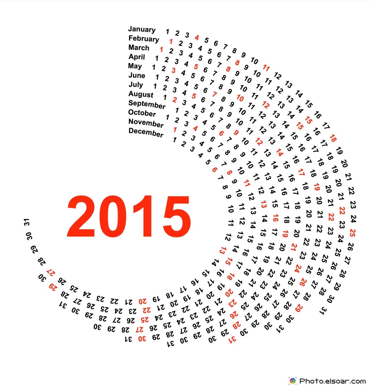 Circle-Calendar-2015-Year